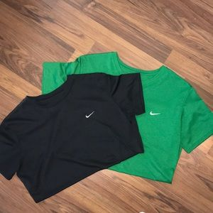 Two Nike dri-fit shirts